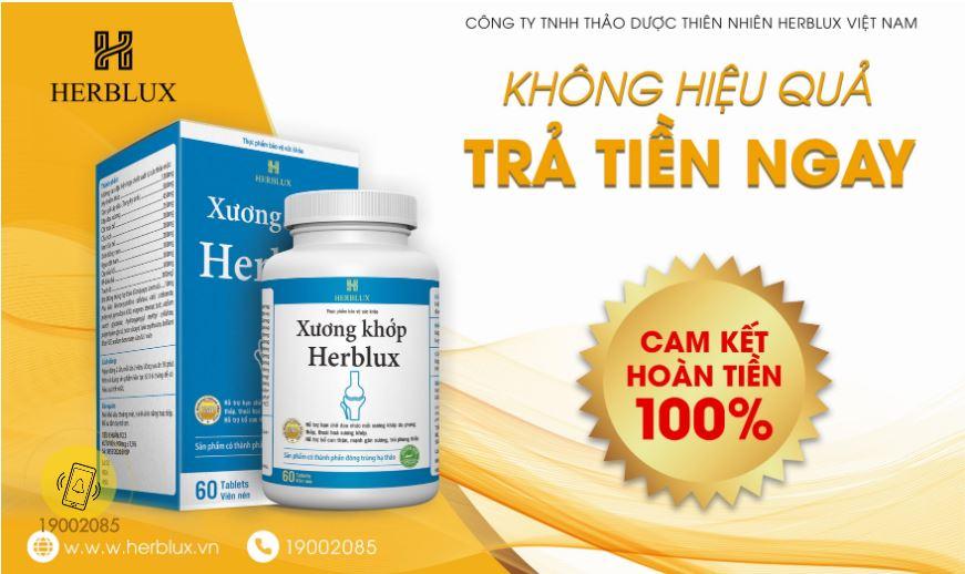 TPBVSK Xuơng Khớp Herblux: Không hiệu quả - Trả tiền ngay