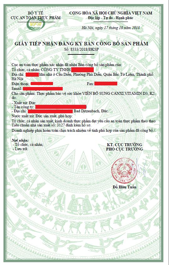 Dịch vụ đăng ký công bố sản phẩm thực phẩm chức năng